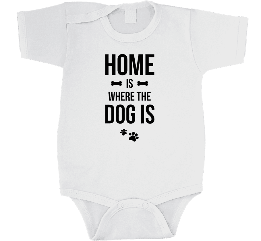 Dětské body Home is where the dog is